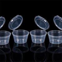 Caixa de caixa de armazenamento copo de molho de plástico descartável com tampa molho para takeaway copo recipientes de cozinha organizador DWE10396