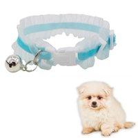 Collares de gatos conduce a flor lindo encaje mascota collar encantador cachorro con collar de entrenamiento de perro de campana cómodo