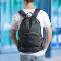 Backpack Travel Bag High-capacity Backpacks Zipper Soild Nylon Back Pack Daily Traveling Women Men Shoulder Bags Folding