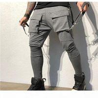 Designer Pants Spring Autumn Sweatpants Mens 2020 Designer Clothes Hip-hop Big Pocket Casual Sports Pants Men Fashion Tooling Track Pants