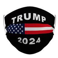 Трамп 2024 Многоразовая моющаяся маска для лица нетканая ткань анти пылезащитный дымовой дышащий унисекс Взрослые Faceegass 537 V2