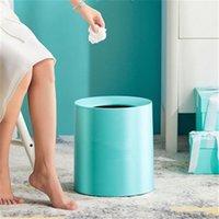 2021 Nordic Basura Can Home Sala de estar Cuarto de baño Cuarto de baño Capas de desechos Grandes Inserencias Simple Simple Luz Moderna Cesta de Papel de Lujo