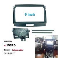 2 Din 9 Inch Car Radio Installation GPS Mp5 Plastic Fascia Panel Frame for Ford Ranger 2015~2017 Dash Mount Kit