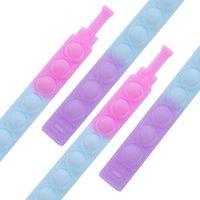 2021 Party Kids Fingertips Pop Fun Bubble Dimple Toy Mini Simple Stress Relief Bracelet Wholesale