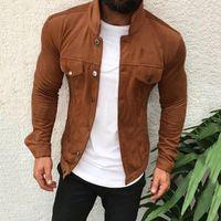 2021 Chaqueta de cuero para hombre Chaqueta de moda casual Collar de moto Chaqueta de motocicleta Hombres Slim Style Calidad Cuero Hombres Outwear Outwear