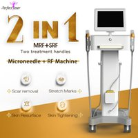 Fractional RF microneedle pen Machine Wrinkle Removal stretch mark remover 4 kinds of tips Insulated microneedling needles