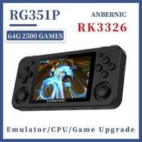 اللاعبون لعبة المحمولة RG350P RG351P اللاعب المحمص 64GB نظام Emuelec PS1 64bit IPS RG351 جيب الرجعية وحدة التحكم