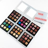 No Logo! 9 Color Matte Glitter Eyeshadow Palette Accept Customized Logo Can DIY Colors Collection Eye shadow Palettes