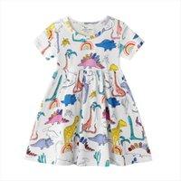 Été Floral Lovely Pour Baby Girl Robes Girls Licorne Dinosaure Imprimé Coton Princess Enfant Vêtements enfants