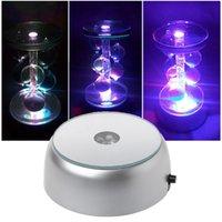4 LEDs exibem luz base redonda colorida luzes da noite luminosa para objetos transparentes de vidro de cristal de cocktail