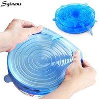 Контейнеры для хранения продуктов питания Sqinans 6 шт. / Комплект Универсальный силиконовый оберт для многоразового уплотнения.