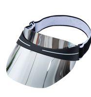 2021 Sıcak Tasarımcı Visor Moda Yaz Moda erkek Ve Kadın Güneş Şapka Son Tasarım Dazzle Renk Şeffaf PVC Güneş Şapka