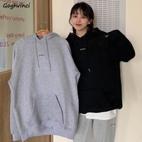 Women's Hoodies & Sweatshirts Women Letter Printed Hooded Ins Spring Plus Velvet Harajuku Womens Hoodie Loose Daily Streetwear Vintage Coupl