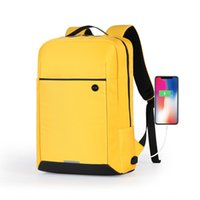Backpack Mixi 2021 Design Men Women School Bag 15.6 Laptop With USB Port Waterproof Breathable Black Yellow M5718