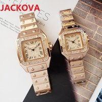 luxury women men diamonds ring watch Fashion Full Stainless Steel Dress Watches Square Roman Dial Designer Quartz Sapphire Wristwatches Montre Femme Reloj gifts