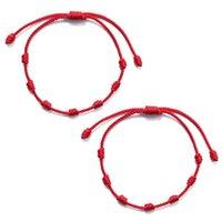 Knots Red String Bracelet For Protection Evil Good Luck Amulet Success And Prosperity Friendship Charm Bracelets