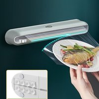 Disposable Dinnerware Kitchen Plastic Wrap Cutter Household Magnetic Refrigerator Slip Knife Type PE Film Automatic Cutting Artifact