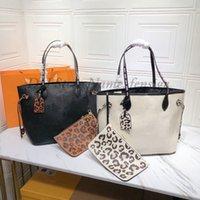 2021Ss Leopard Imprimir Nunca mm Saco de ombro com cutch selvagem na cápsula de coração pintada à mão separada bolsa zipada mulheres desenhista luxurys sacos de compras