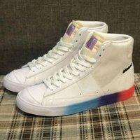 Blazers Ayakkabı Orta 77 Vintage Beyaz Siyah Açık Mor Turuncu İyi Bir Oyun Paten Kurulu Kadın Erkek Açık Spor Sneakers