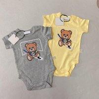 Мода дизайнер лето новорожденных детей детские мальчики девушки одежда детская ромпер малыш младенческие наряды с коротким рукавом комбинезон боди детская одежда
