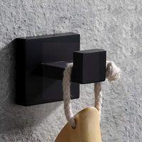 Bath Accessory Set 304 Steel Towel Rack Robe Hook Rail Bar Shelf Home Pendant Black Hardware Holder Paper Bathroom X3m5