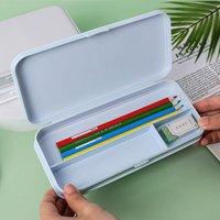 NewCandy Color Capacidad de gran capacidad Caja de lápices Kawaii Lápiz Caja de pluma Estudiante lindo Lápices de plástico Box School Signos Suministros de papelería EWA4738