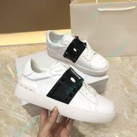 패션 여성 드레스 신발 플랫폼 남성 캐주얼 컴포트 스니커 레저 가죽 신발 Chaussures 트레이너 상자