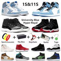 11 Erkek Basketbol Ayakkabıları 1 1s Travis Scott Twist 1s Dark Mocha 1 Black Bred Toe Yasaklı Concord Üniversitesi Erkek Eğitmenler Spor Ayakkabıları Air Jordan 1 Jordans 11