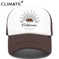 مناخ سائق الشاحنة الدب كاليفورنيا ريبورد العلم قبعات الرجال النساء الهيب هوب مضحك قبعة البيسبول بارد الصيف شبكة قبعة
