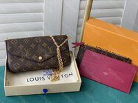 Felicie 3 قطعة LULLURYSمصممون إمرأة لويسأكياس فيتون أبداالكتف LV.حقائب اليد المحفظةموجة فيتونحقيبة ظهر بطاقة YSLسريع
