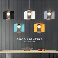 Nordic creative macaron led chandelier lamps modern minimalist art dining table lamp wrought iron bar clothing store pendant light RNB82