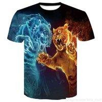 Tigre camiseta homens homens 3d printered 2019 novo t-shirt manga curta o-pescoço moda hip hop verão tops tees casual lobo 3d castorsoccer jersey