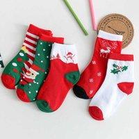 Ornamento de la Navidad Alta calidad Cock Church Sock Santa Claus Navidad Árbol Lámina Impresión Bebé Calcetines Invierno Soft Transpirable Cálido Calcetines Cálidos Niños