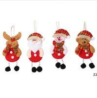 Party Saceates танцует Санта-Клаус с рождеством украшения деревьев висит игрушка кукла украшения домашнего декора старик Chirlden нынешний HWF9087