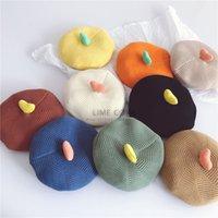 سوبر لطيف الحب الأطفال الحياكة قبعة قبعة الخريف والشتاء، وجميع أنواع الطفل اليقطين قبعة الرسام قبعة قبعة الصوف
