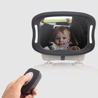مقعد السيارة الرؤية الخلفية مرآة الطفل عرض أضواء led البعيد الاكريليك ABS دوران اكسسوارات الداخلية الأخرى
