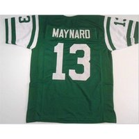 Bay Don Maynard # 13 Dikişli Dikişli Retro Jersey Tam Nakış Jersey Boyutu S-5XL veya Özel Herhangi Bir Ad veya Numara Forması