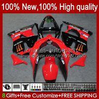 Moto Body For KAWASAKI NINJA ZX-6R 600CC ZX-636 ZX600 1998-1999 Bodywork 16No.44 ZX 636 600 C CC 6 R 6R ZX6R 98 99 ZX-600 ZX600CC ZX636 1998 1999 Fairing Kit factory red
