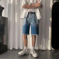 Mens Summer Tie Dye Fashion Jeans Shorts Streetwear Hip Hop Denim Shorts Male Casual Sweatshorts Pants
