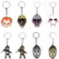 Horror Film Samen von Chucky Saw Keychain Schlüsselanhänger Jason Mask Black Friday Key Chain Für Männer Frauen Halloween Geschenke