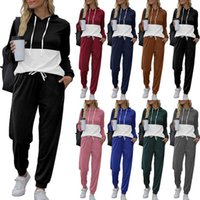 Designers Women Clothes tracksuits Autumn and winter new 2021 fashion loose leisure color matching Hoodie suit sports jogging suits S-5XL