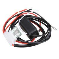 Araba Akıllı DRL LED Gündüz Koşu Işık Röle Koşum DRL Denetleyici Kablo Telleri Otomatik LED Gündüz Çalışan Park Işık Açık / Kapalı