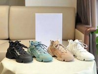 2021 Desjgner D-Conectar Mujeres Zapatos Casuales Vestido Neopreno Grosgrain Cinta Sneakers Oblique Letra Plataforma Entrenadores Bordado Impresión Dupe Dupe Lienzo Zapato