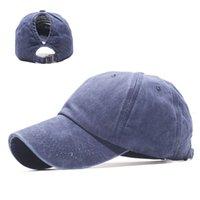 Baseballmütze Hut Frühling und Sommerlichtversion Ponytail Loch Waschen Alte Baseballkappe Sonnenschirm Outdoor Sun Hut Sonnencreme