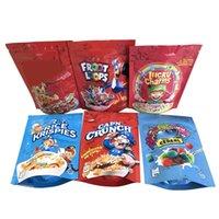 Boş Şanslı Charms Tahıl Çanta Kroot Döngüler Cap'n Crunch Jolly Tahıl Pirinç Krispies Toasted Mylar Çanta Ambalaj