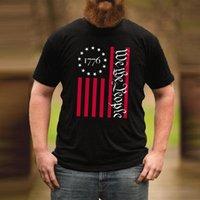 Wir die Leute Hemd Streetwear Männer 2021 Amerikanische Flagge T-Shirt Ankunft Patriotisches T-Shirt Usa Kleidung Drucken T-Shirts