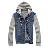 Designers Denim Men Hooded Sportswear Outdoors Casual Fashion Jeans Jackets Hoodies Cowboy Mens Jacket and Coat Plus Size 5xl 6x