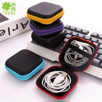 Colorful Pu Zipper Bag Earphone Cable Mini Box SD Card Portable Coin Purse Headphone Bag Carrying Pouch Pocket Case Cover Storage LZ452