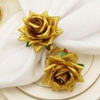 Anneaux de serviettes 3 couleurs 6 pcs / set Bague de serviette portative de boucle d'alliage résistant à l'usure unique résistant à l'usure Durable pour la cuisine