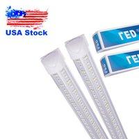 T8 LED Tube V Shaped LEDS Integrate TubeS 2FT 4FT 5FT 6FT 8FT 8 Feet Double Row 4 Foot 36W 72W 100W 144W USA STOCK USALIGHT